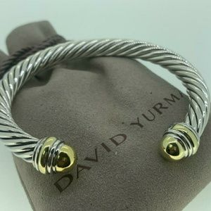 David Yurman 7mm Cable Classic 925 and 14k Gold